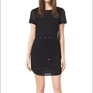 Michael Kors XS Black Eyelet Perforated Mini Dress